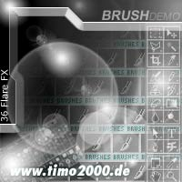 Product picture Tymoes 36 Flare FX Photshop Brush - Donwload Addons, Shapes Brushes for adobe photoshop 6.0, 7.0, cs and cs2 not for free