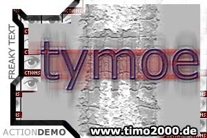 Product picture Tymoes Freaky Text Photoshop Action - Donwload Addons, Shapes Brushes for adobe photoshop 6.0, 7.0, cs and cs2 not for free