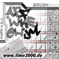 Product picture Tymoes Graffiti A-O Photoshop Brush - Donwload Addons, Shapes Brushes for adobe photoshop 6.0, 7.0, cs and cs2 not for free