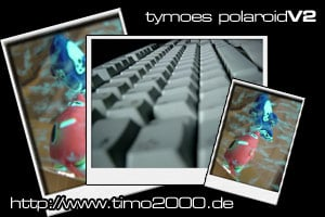 Product picture Tymoes Polaroid v.2 Photoshop Action - Donwload Addons, Shapes Brushes for adobe photoshop